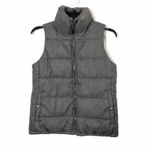 Old Navy Puffy Vest Gray Medium with pockets